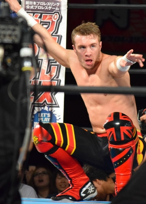 Will Ospreay as seen in a picture that was taken on May 29, 2016, at the Osaka Municipal Central Gymnasium