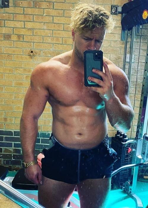 Will Ospreay as seen in a selfie that was taken in August 2020