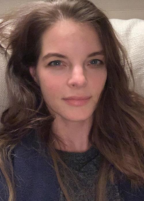 Yvonne Catterfeld in an Instagram selfie from April 2020