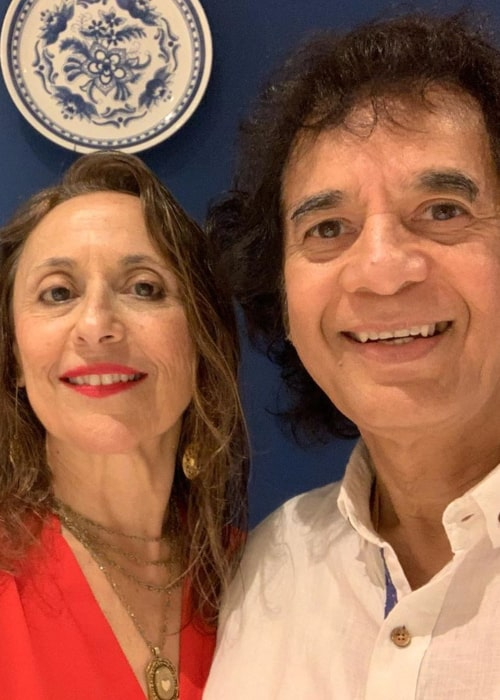 Zakir Hussain and Antonia Minnecola, as seen in March 2020