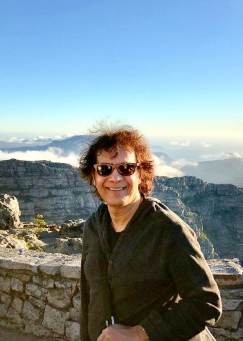 Zakir Hussain as seen in an Instagram Post in April 2020