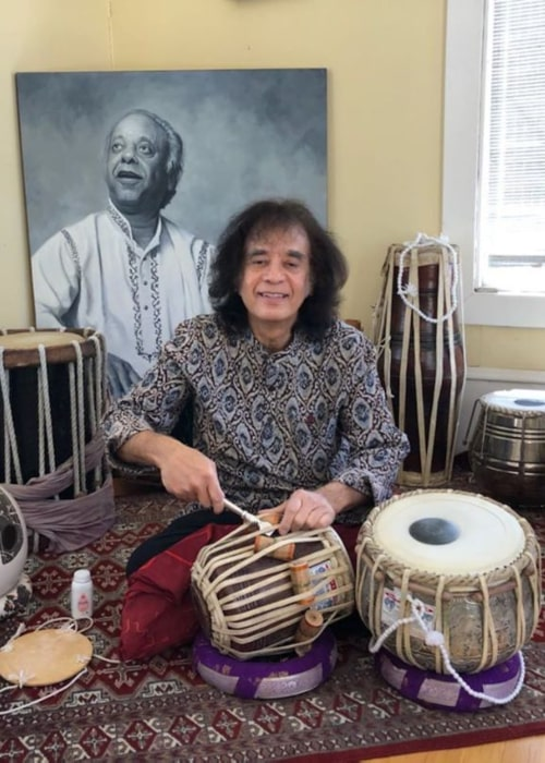 Zakir Hussain as seen in an Instagram Post in June 2020