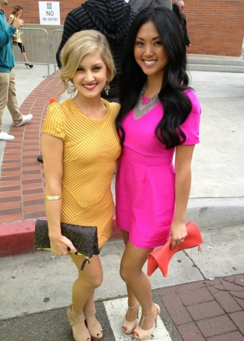 Actress Mia Watanabe and Brittany Anne Pirtle in a picture that was taken in April 2013