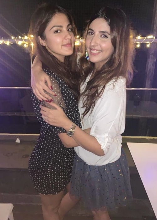 Actress Rhea Chakraborty and Simone Khambatta as seen in a picture that was taken in December 2019