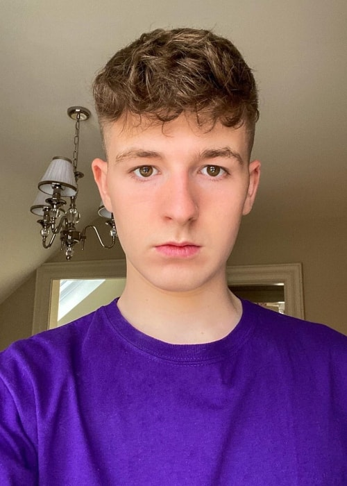 Adam Beales as seen in a selfie that was taken in September 2020