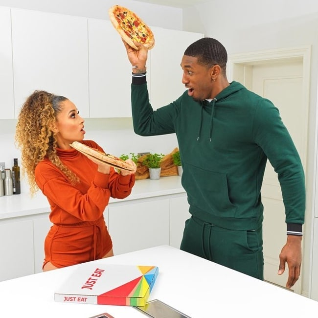 Amber Rose Gill and basketball player Ovie Soko as seen in a picture that was taken in January 2020