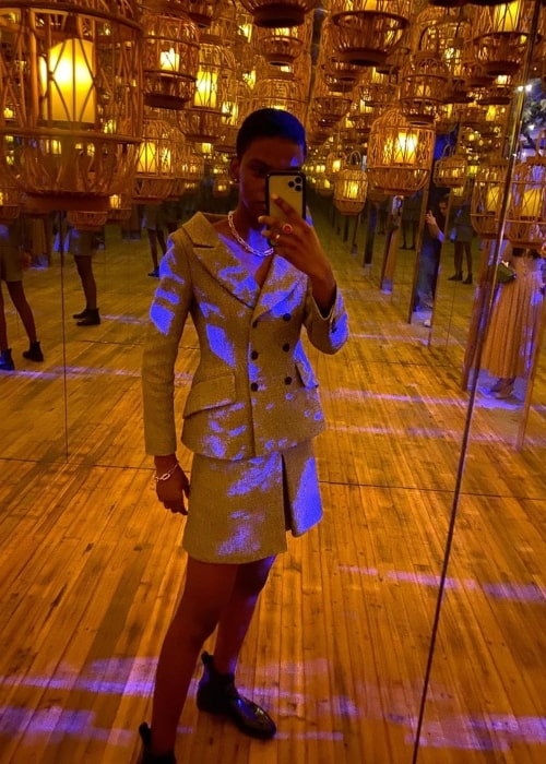 Ana Barbosa as seen in a selfie that was taken at the Shanghai Exhibition Centre in November 2019