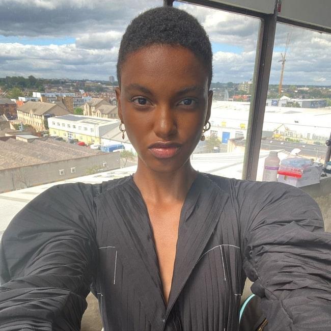 Ana Barbosa as seen in a selfie that was taken in London, United Kingdom in August 2020