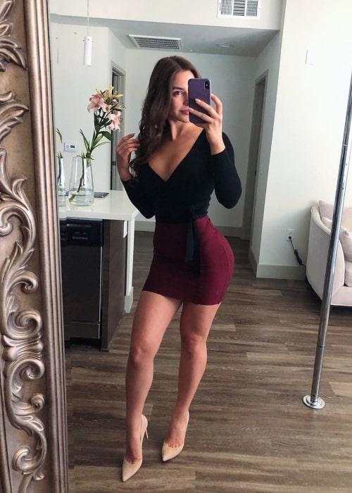 Anfisa Arkhipchenko as seen in a selfie that was taken in Long Beach, California in February 2020