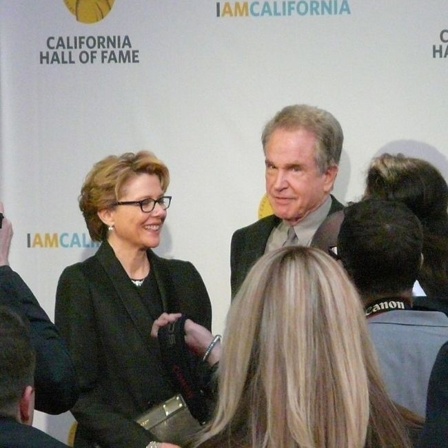 Annette and husband Warren Beatty as seen together in 2013