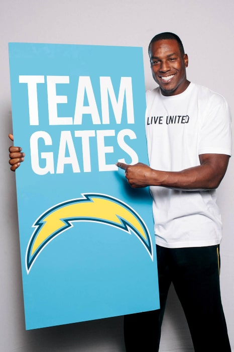Antonio Gates as seen in a Twitter Post in October 2012