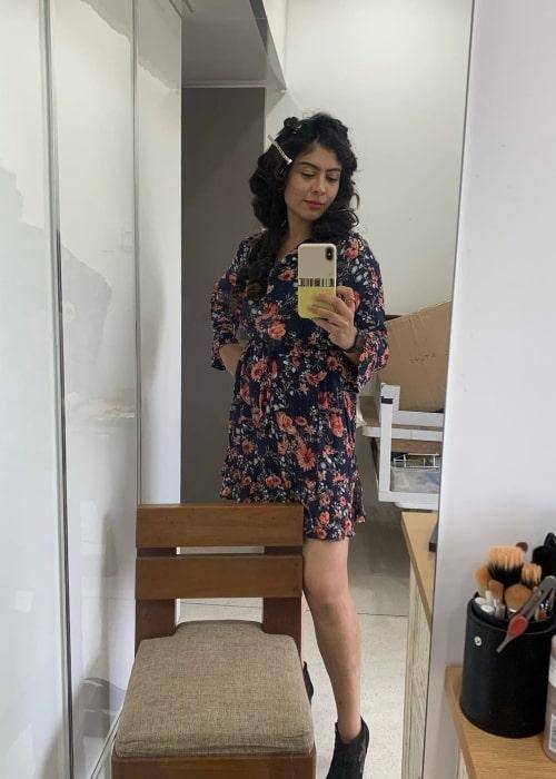 Anurita Jha as seen in a selfie that was taken in July 2020