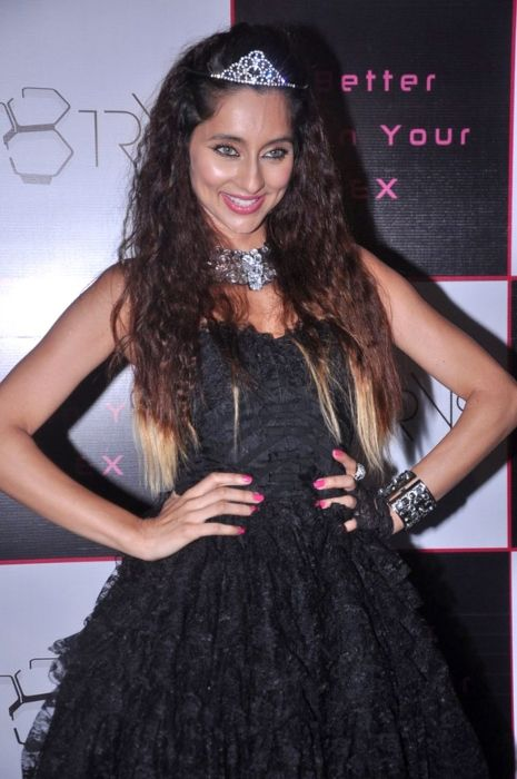 Anusha as seen during the launch of her first single in 2012