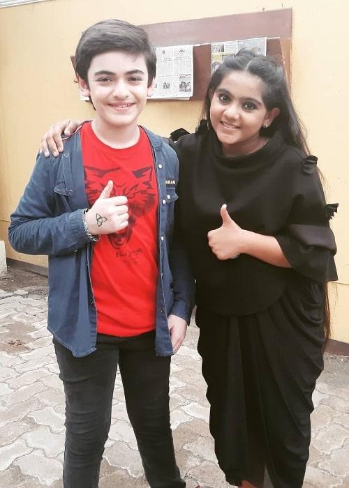 Arsheen Namdar and fellow actor Vansh Sayani posing for the camera