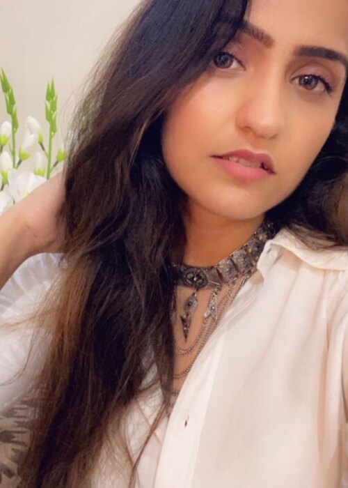 Asees Kaur as seen in a selfie that was taken in September 2020