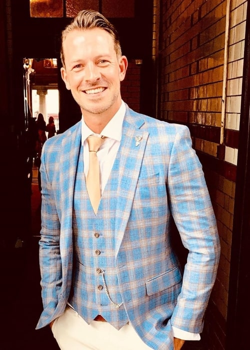 Ashley Taylor Dawson as seen while smiling for a picture in June 2019