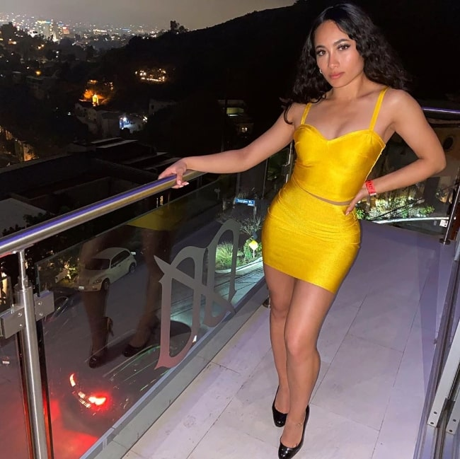 Asia Banyaga as seen while posing for a picture at Beachwood Canyon in February 2020