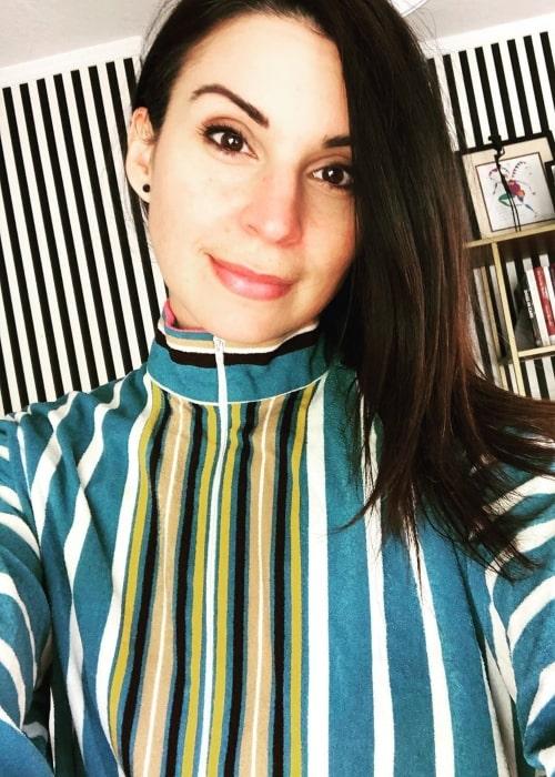 Beth Dover as seen in a selfie that was taken in August 2020