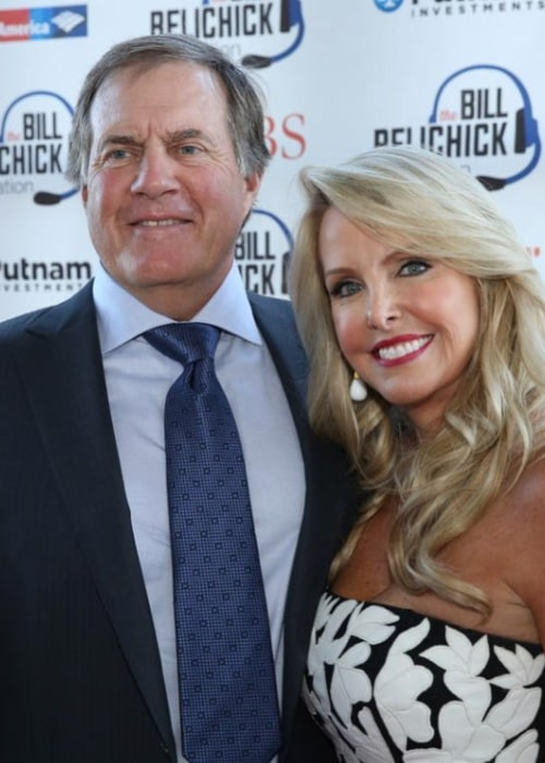 Bill Belichick and Linda Holliday, as seen in October 2017