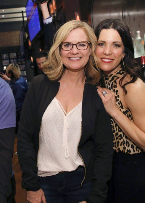 Bonnie Hunt with a friend, as seen in January 2019