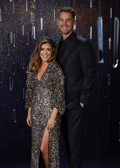 Brett Young and Taylor Mills, as seen in November 2019