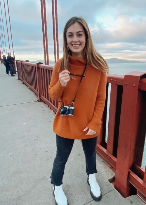 Cameron Dolan as seen in a picture that was taken at the Golden Gate Bridge in February 2020