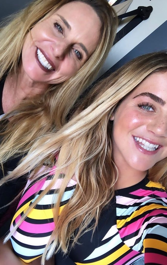 Caroline Marks as seen in a selfie that was taken with her mother in May 2020