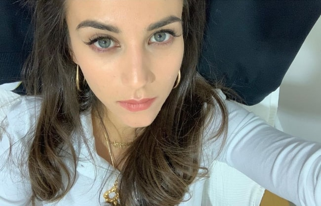 Claudia Salas as seen while taking a selfie in September 2019