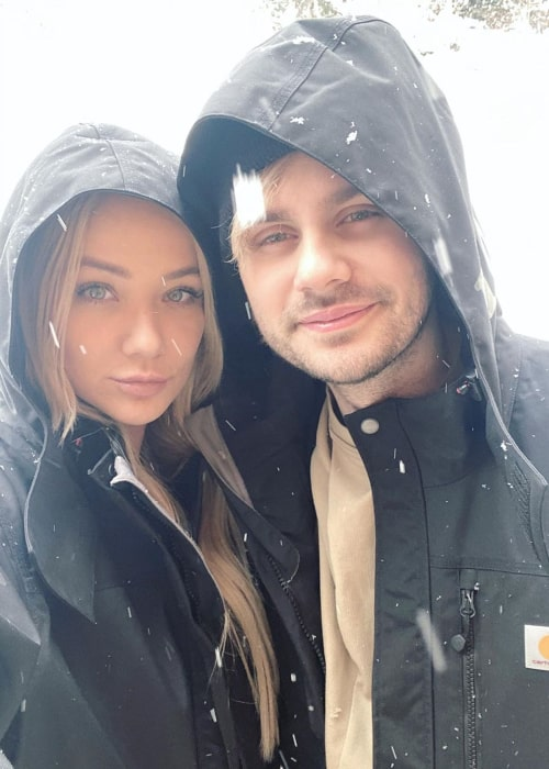 Crystal Leigh and Michael Clifford, as seen in November 2019