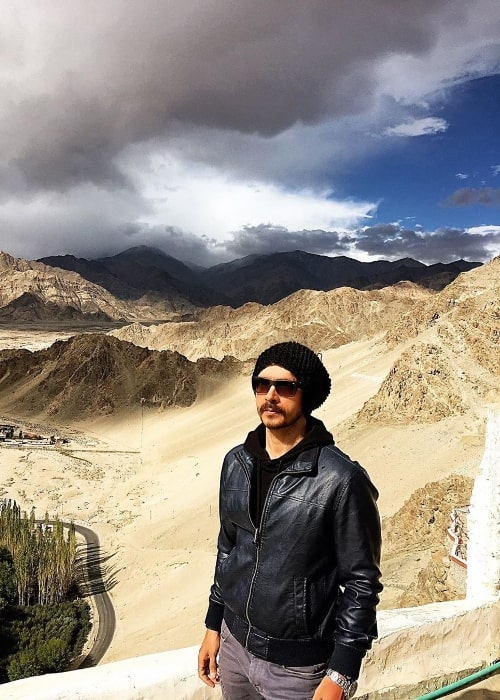 Darshan Kumar as seen while posing for a picture in Ladakh, Jammu and Kashmir