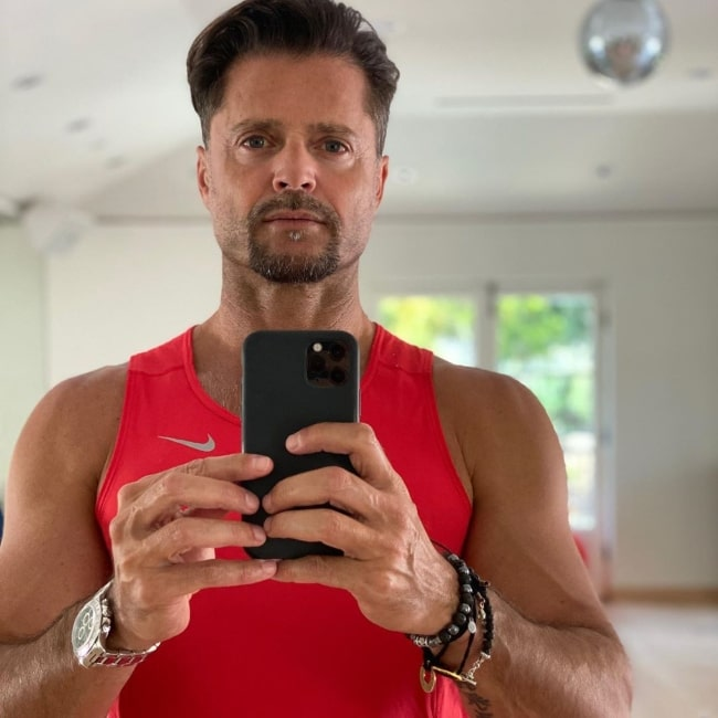 David Charvet feeling better after a workout in April 2020