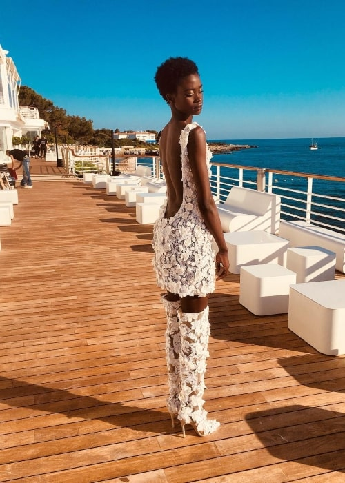 Fatou Jobe as seen in a picture that was taken at the French Riviera in June 2018