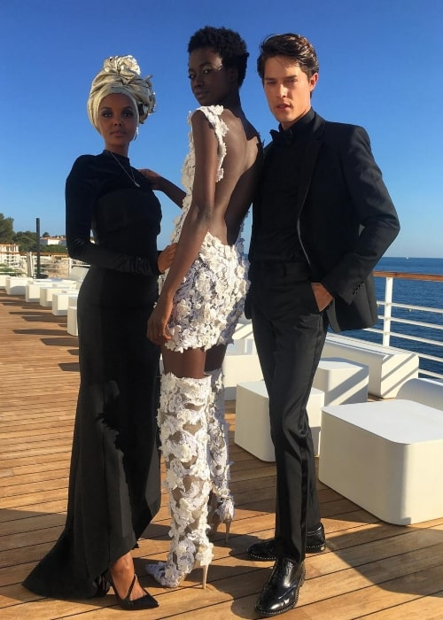 Fatou Jobe as seen in a picture that was taken with model Halima and Cesar Casier at the French Riviera in May 2018