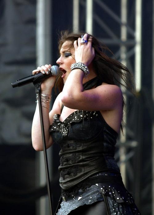 Floor Jansen with Finnish band Nightwish at Tuska Open Air 2013