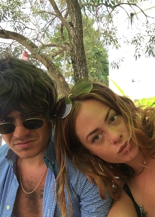 Frankie Cocozza and Bianca Cocozza in a selfie in Bali, Indonesia in July 2018