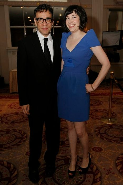 Fred Armisen seen with Carrie Brownstein at the Peabody Awards Luncheon in 2012