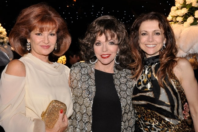 From Left to Right - Stephanie Beacham, Joan Collins, and Emma Samms in London in 2009