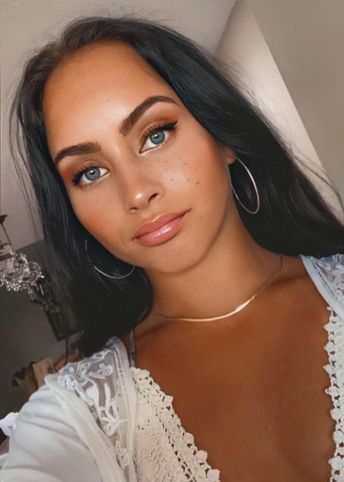 Gabi Butler as seen while taking a filtered selfie in August 2020
