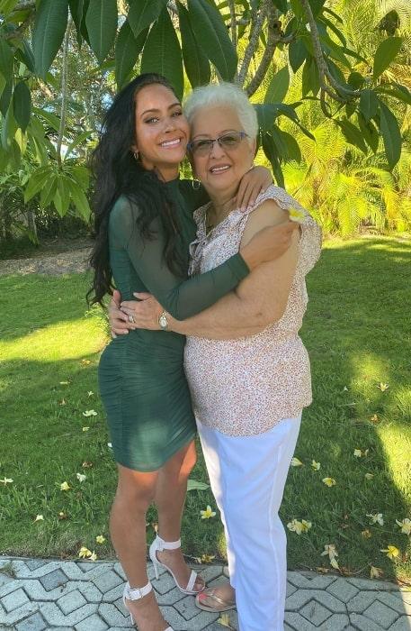 Gabi Butler smiling alongside her grandmother