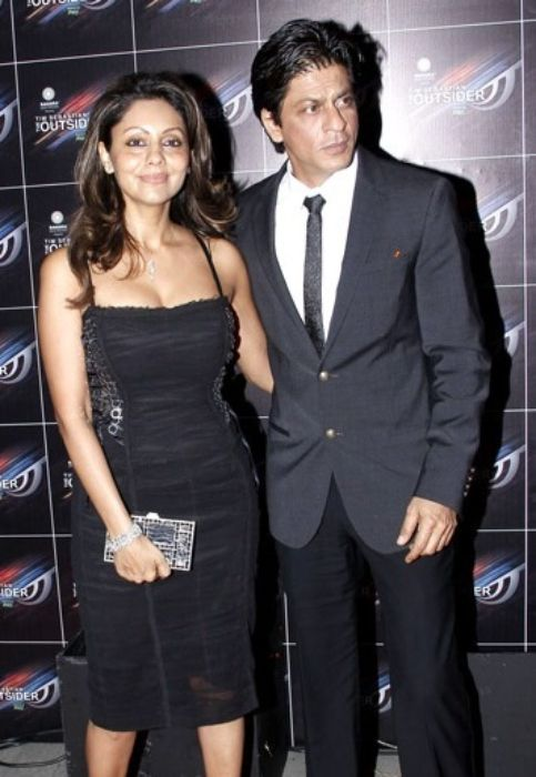 Gauri Khan as seen with her husband Shahrukh Khan