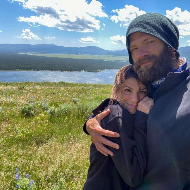 Genevieve Padalecki as seen in a picture while sharing a romantic moment with her husband Jared Padalecki in July 2020