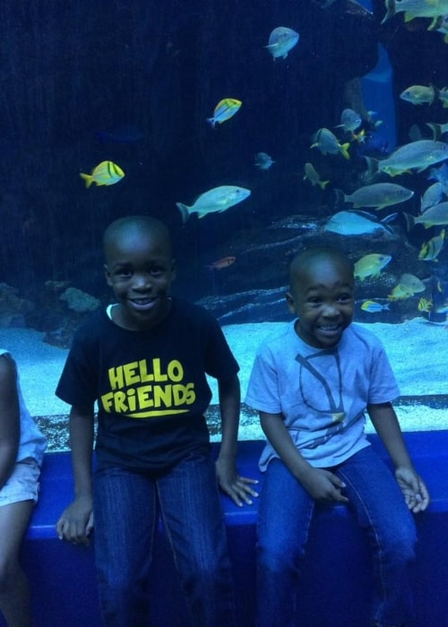 Isaiah Fredericks as seen in a picture that was taken with his brother Jojo at the Georgia Aquarium on August 30, 2014