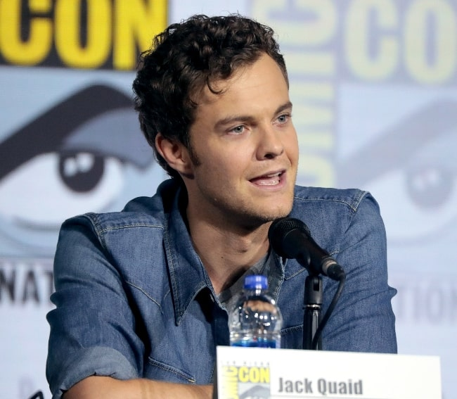 Jack Quaid pictured while speaking at the 2019 San Diego Comic-Con International, for 'Star Trek Lower Decks', at the San Diego Convention Center in San Diego, California