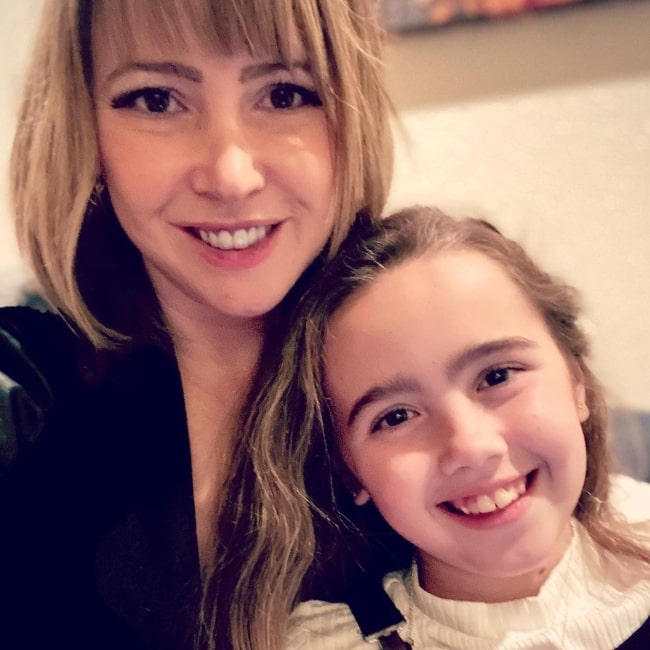 Jennifer Tisdale smiling in a picture alongside her daughter in February 2020