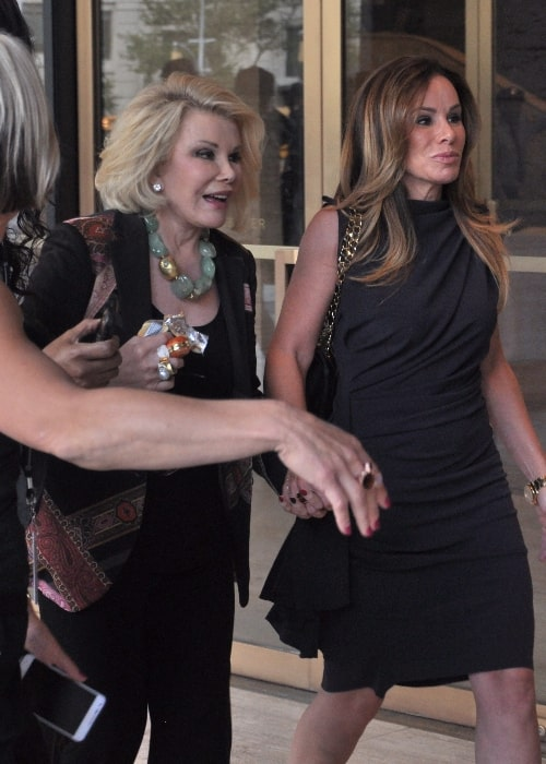 Joan Rivers (Left) pictured with her daughter, Melissa, during New York Fashion Week 2012