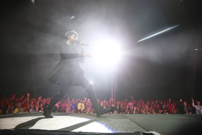 Joel Smallbone pictured while performing with 'King and Country' at Kingdom Bound 2015