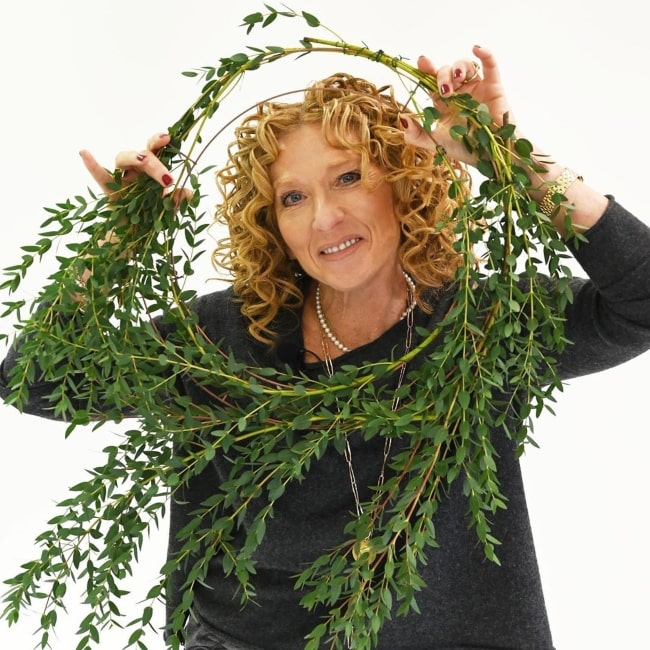 Kelly Hoppen in December 2019 talking about posting Christmas tips on decorating the tree as well as on wreath making