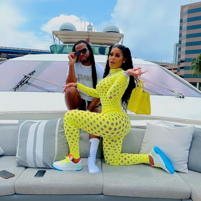 Keyshia Ka'Oir as seen in a picture with her friend Harold that was taken in July 2020