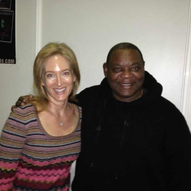 Kim Myers and actor Ken Sagoes in a picture that was taken in Essen, Germany in November 2013