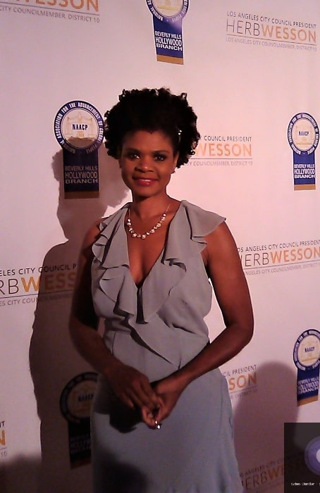 Kimberly Elise as seen while posing for the camera at an event in June 2019